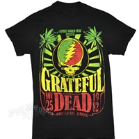 Grateful Dead Jamaica Rasta Black T-Shirt - Men's