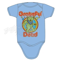 Grateful Dead Retro Bear Creeper - Light Blue