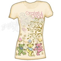 Grateful Dead Trees And Bears Cream T-Shirt - Women's