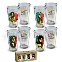 Bob Marley Pint Mug Glasses Set