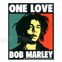Bob Marley One Love Box Sticker