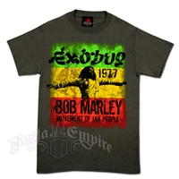 Bob Marley Exodus 1977 Movement Charcoal T-Shirt - Men's