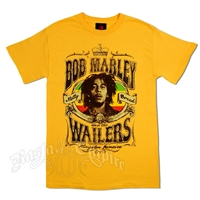 Bob Marley And The Wailers Natty Dread Faded Gold Men's T-Shirt