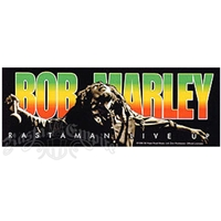 Bob Marley Rastaman Live Up Bumper Sticker