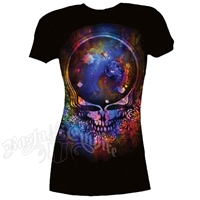 Grateful Dead Space Your Face Black T-Shirt - Women's