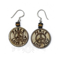 Bone Peace Love Joy Earrings