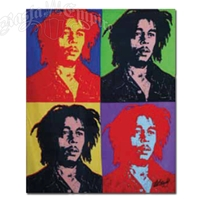 Bob Marley Fleece Throw - Andy Warhol Style