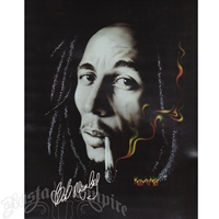 Bob Marley Rasta Smoke Luxury Plush Blanket