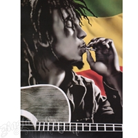 Bob Marley Guitar Luxury Plush Blanket