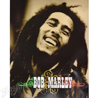 Bob Marley Smiling Luxury Plush Blanket