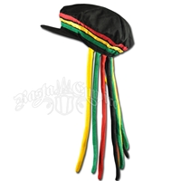 Adult Applejack Hat with Fake Rasta Dreadlocks