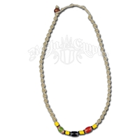 Rasta Bead on Hemp Necklace