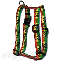 Peace, Love & Rasta Dog Harness