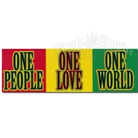 1 People 1 Love 1 World Rasta Sticker