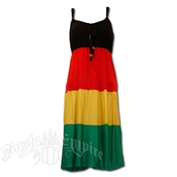 Rasta and Reggae Drawstring Dress