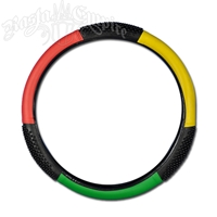 Rasta Steering Wheel Cover With Grips