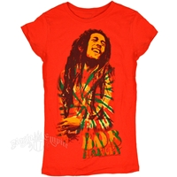 Bob Marley Smile Tomato Red T-Shirt - Women's