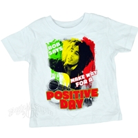 Bob Marley Make Way Positive Day White T-Shirt  - Infant's
