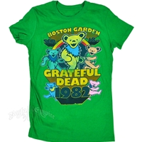 Grateful Dead Boston Garden 1982 Bears Kelly Green T-Shirt - Women's