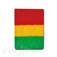 Rasta Terry Cloth Wristband