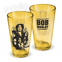 Bob Marley Collage Pint Glass