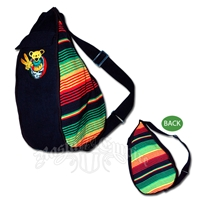 Grateful Dead Dancing Bear Shakedown Cotton Sling Backpack
