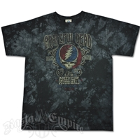 Grateful Dead American Music Hall Black Tie Dye T-Shirt - Men's