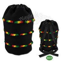Rasta Backpack With Stripes