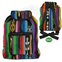 Multi Colored Striped Backpack