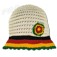 Rasta Flower Hat - Natural