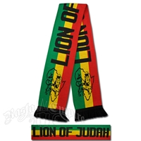 Rasta Lion of Judah Stripe Scarf