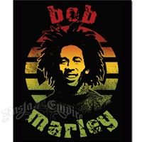Bob Marley Rasta Peace Sign Fleece Throw
