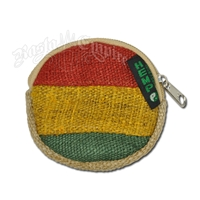 Rasta Round Hemp Coin Purse