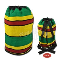 Rasta Striped Cinch Top Backpack