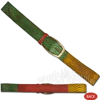 Rasta Snake Handmade Leather Belt