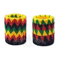 Rasta Crochet Pen & Pencil Cup Holder
