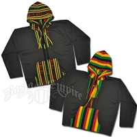 Rasta and Reggae Hooded Poncho