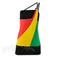 Rasta and Reggae Mini Over One Shoulder Strap Dress
