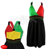 Rasta and Reggae Bungee Short Dress
