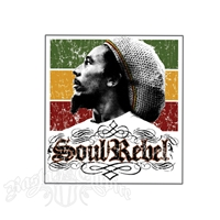Bob Marley Soul Rebel Sticker