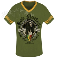 Bob Marley Rastaman Vibration London Green/Mustard Soccer Shirt - Men's