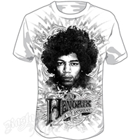 Jimi Hendrix Wing Emblem White T-Shirt – Men's