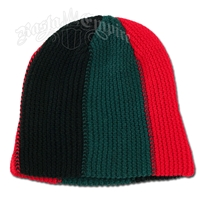 Green Black Red Loose Fit Beanie