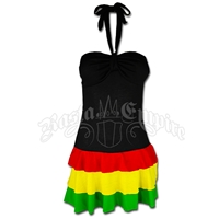 Rasta and Reggae Bra Bandeau Short Dress
