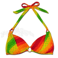 Rasta Jamaica Mon Hollywood Halter Push-up Bikini Top