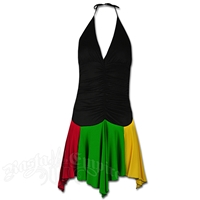 Rasta and Reggae Halter & Dance Skirt Short Dress