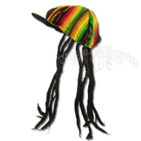 Adult Fake Dreadlocks Wig with Brimmed Hat
