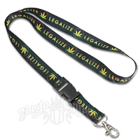 Rasta Legalize It Lanyard