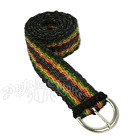 Hemp Rasta Striped Belt