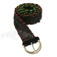 Hemp and Rasta Specks Belt - Black